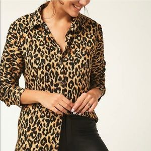 New Women's Leopard print bottom down shirt